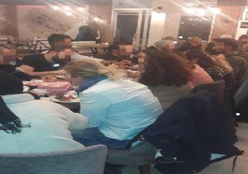 Sosyal mesafenin ihlal edildiği toplu yemeğe 63 bin lira ceza