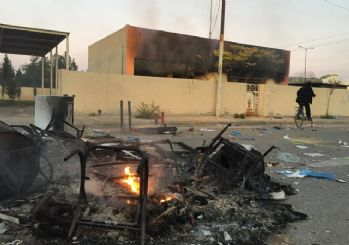 Irak'ın Süleymaniye kentinde hükümet karşıtı gösteri