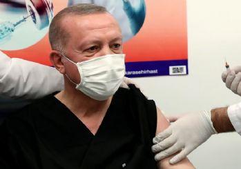 Cumhurbaşkanı Erdoğan, ikinci doz aşıyı oldu