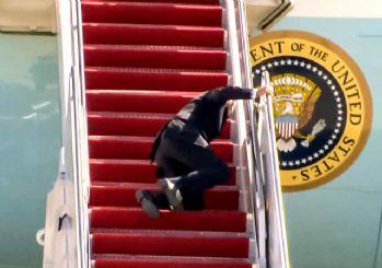 ABD Başkanı Joe Biden'ın zor anları! 3 kez üst üste düştü