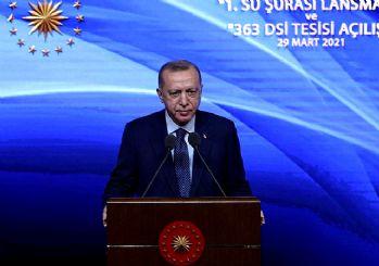 Erdoğan: Meclis'te su kanunu hazırlıyoruz