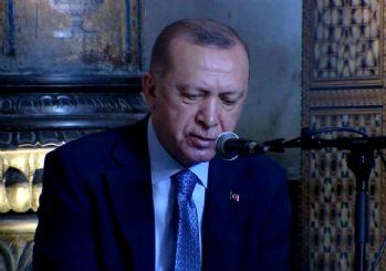 Erdoğan Ayasofya Camii'nde Kur'an okudu