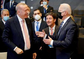 Erdoğan ve Joe Biden'dan ayaküstü sohbet
