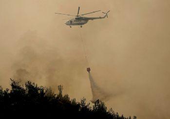 Manavgat'taki yangında havadan ve karadan müdahale sürüyor