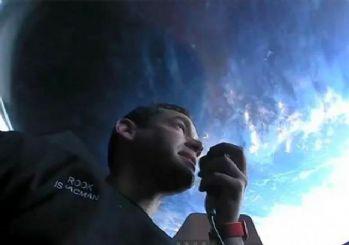 SpaceX'in 'uzay turistlerinden' ilk görseller