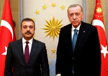 Cumhurbaşkanı Erdoğan MB Başkanı Kavcıoğlu ile görüştü
