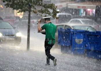 Meteoroloji sel ve dolu için uyardı