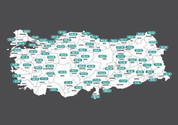 İllerin haftalık vaka yoğunluğu haritası açıklandı