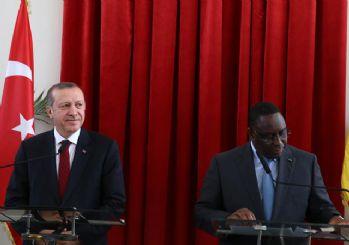 Erdoğan'ın Senegal temaslarından kareler