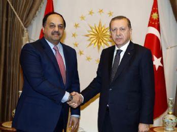 Erdoğan Katar Savunma Bakanıyla görüştü