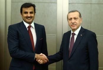 Erdoğan Katar Emiri ile görüşüyor