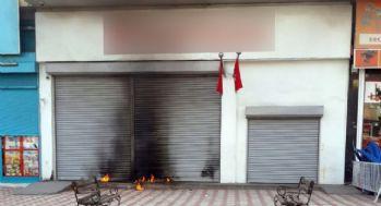 Bankaya molotofkokteyli saldırı