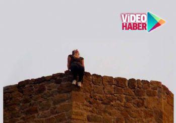Tarihi kalede saniye saniye intihar anı
