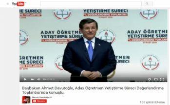 Davutoğlu youtube'dan ilk videosunu yayınladı