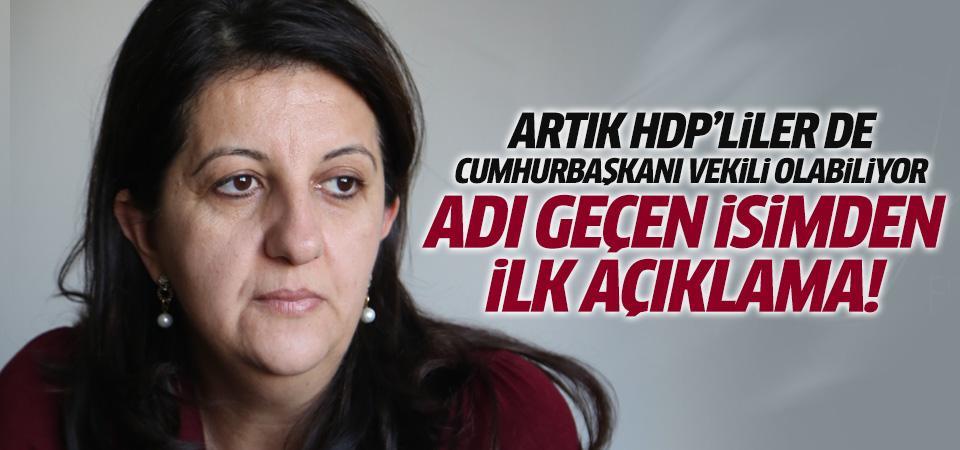 HDP'liler de Cumhurbaşkanıvekili olabilecek