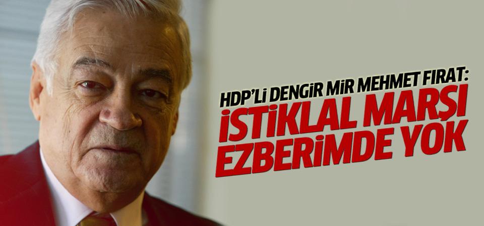 HDP'li Dengir Mir Mehmet Fırat: İstiklal Marşı ezberimde yok