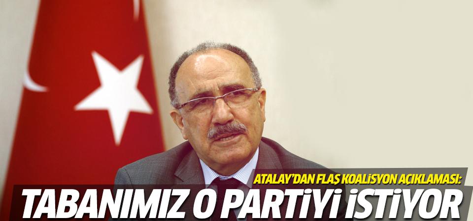 Beşir Atalay'dan flaş koalisyon açıklaması