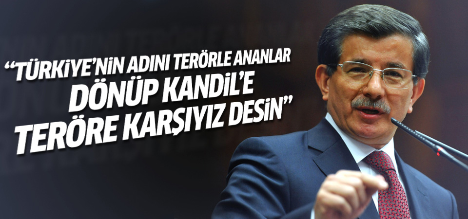 Davutoğlu Ak Parti grup toplantısı'nda konuştu
