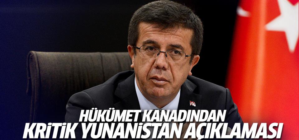 Nihat Zeybekci'den Yunanistan açıklaması