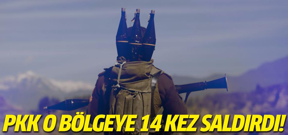 PKK o bölgeye 14.kez saldırdı!