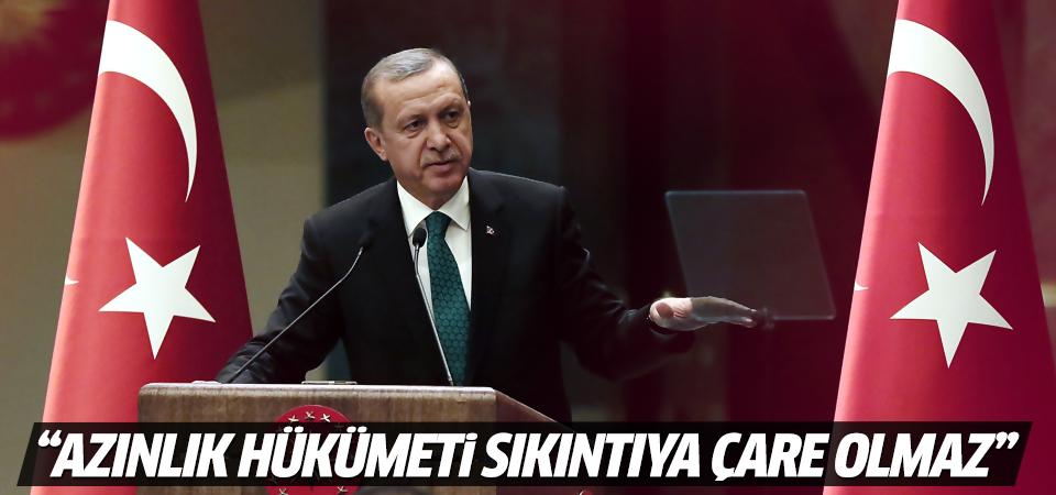 Cumhurbaşkanı Erdoğan'dan flaş koalisyon açıklaması