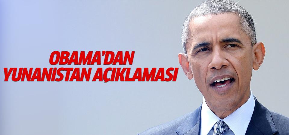 Obama'dan Yunanistan açıklaması