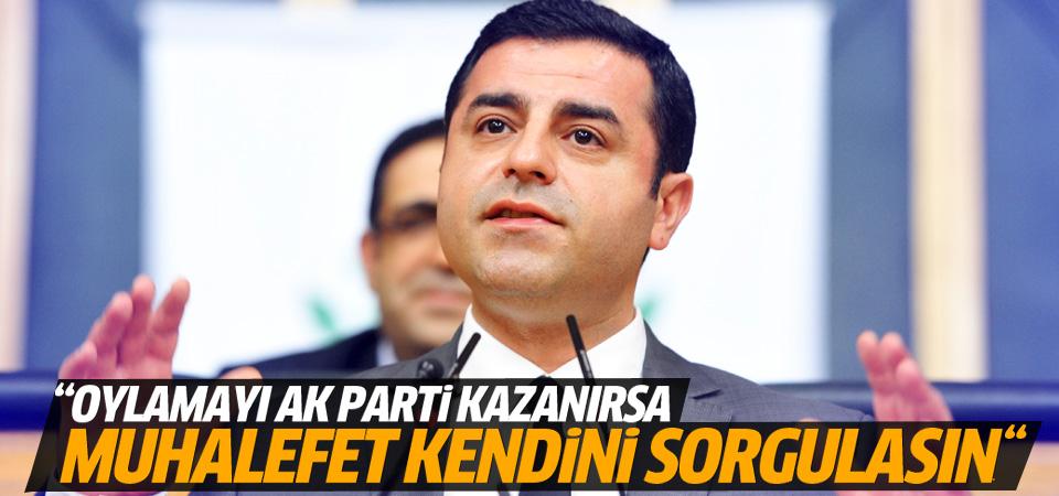 Demirtaş'tan Meclis Başkanlığı seçimi sonucu yorumu