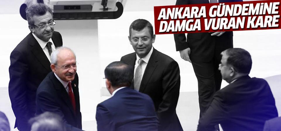 Kemal Kılıçdaroğlu ile Ahmet Davutoğlu el sıkıştı