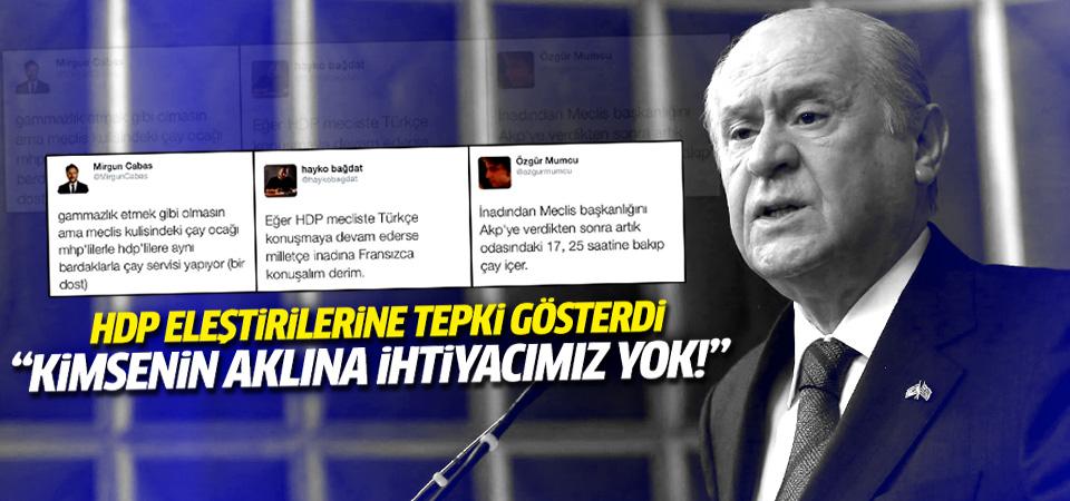 Bahçeli HDP eleştirilerine cevap verdi