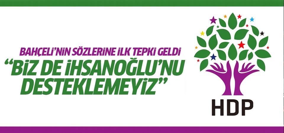 HDP'den Devlet Bahçeli'ye yanıt