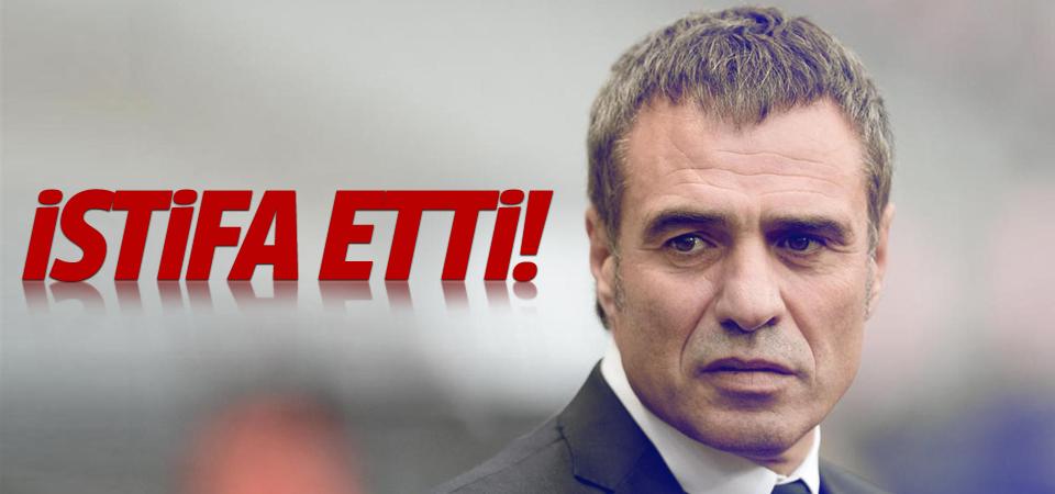 Ersun Yanal istifa etti!