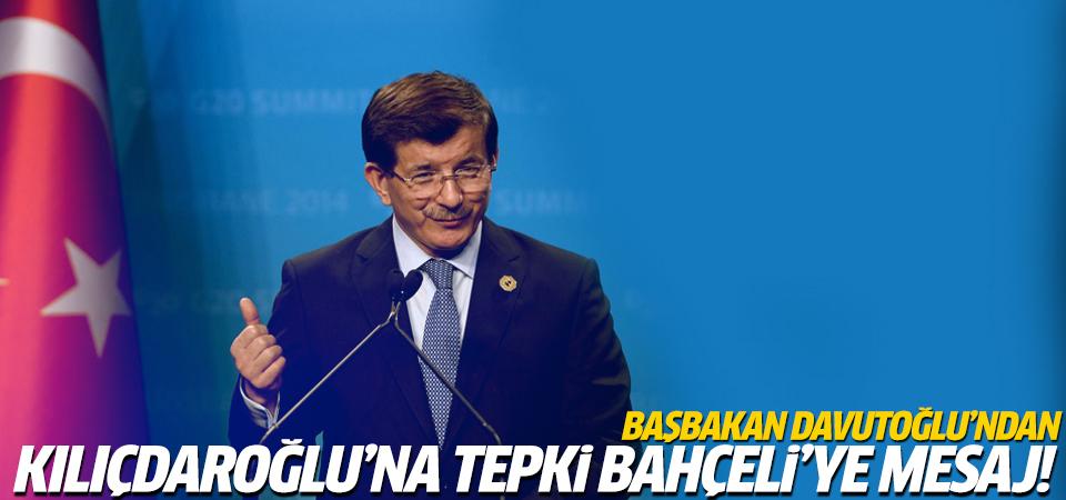 Başbakan Davutoğlu konuşuyor