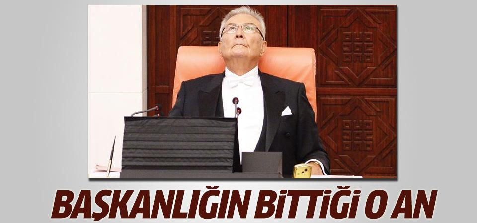 Deniz Baykal'ın Meclis Başkanlığı görevinin bittiği o an