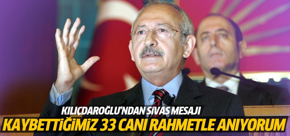 Kemal Kılıçdaroğlu'ndan Sivas mesajı