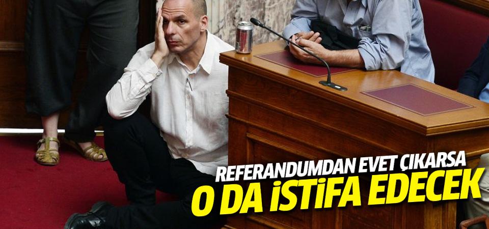 Referandumdan 'Evet' çıkarsa Yunanistan Maliye Bakanı da istifa edecek