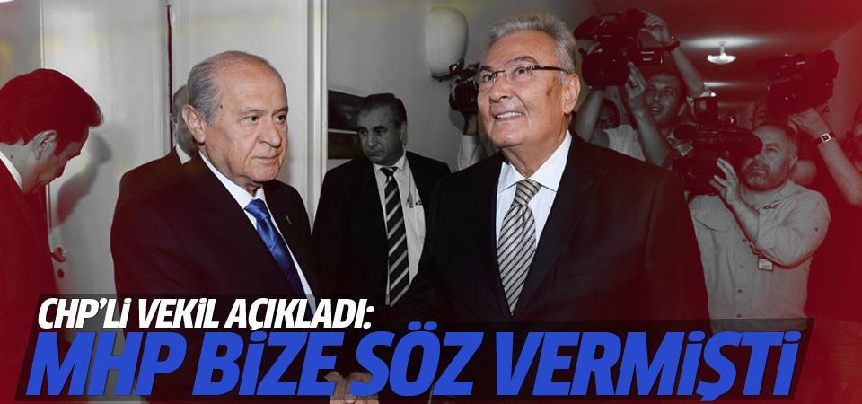 CHP'li vekil: MHP Baykal'ı destekleyecekti vazgeçti