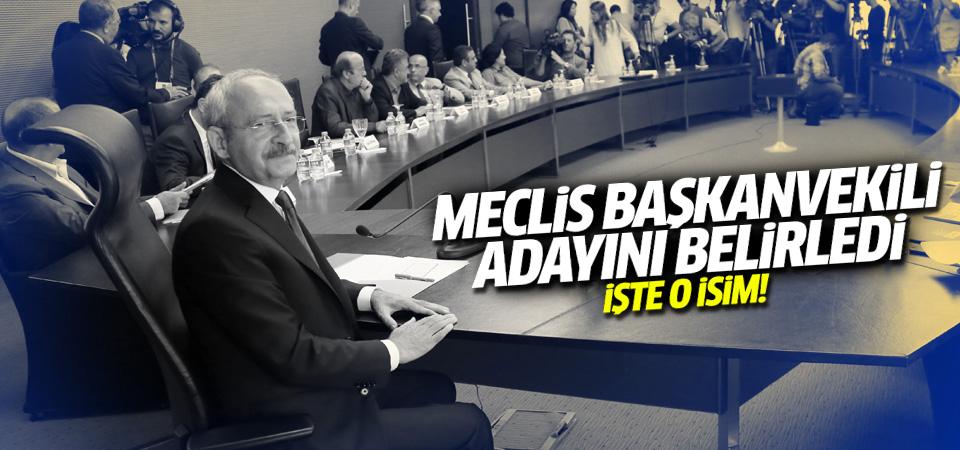 CHP, Meclis Başkanvekili adayını belirledi