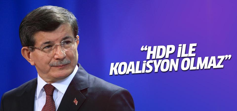 Başbakan Davutoğlu: HDP ile koalisyonu makul görmüyoruz