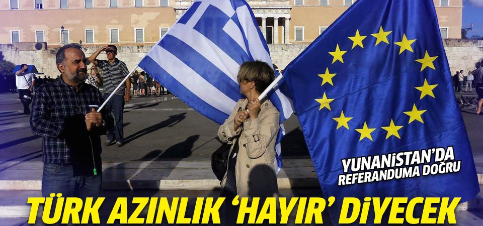 Komşuda Türk azınlıklardan 'hayır' desteği
