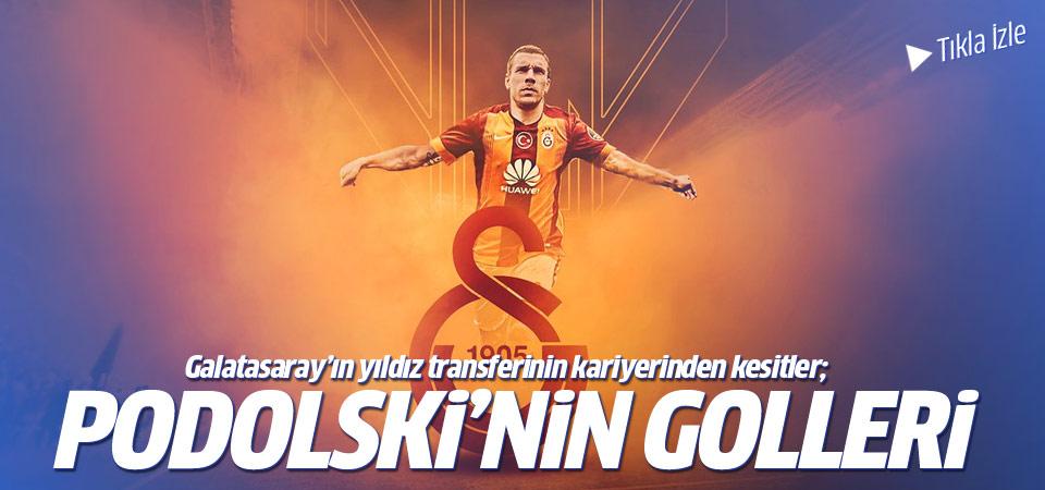 Galatasaray'ın yıldızı Podolski'nin golleri