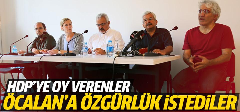 HDP'ye oy verenler Öcalan'a özgürlük istedi