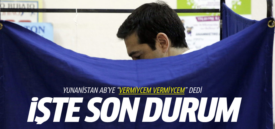 Yunanistan referandumunda oyların yüzde 70'i sayıldı