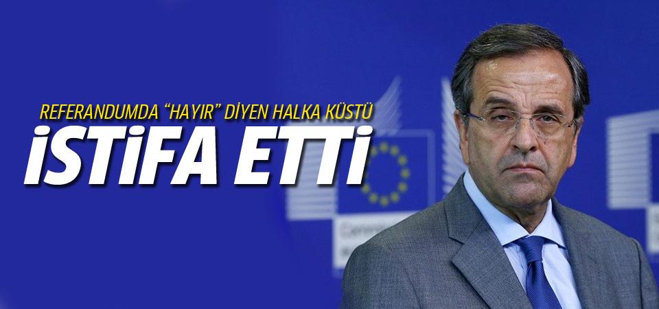 Referandum sonuçları AB'ci Samaras'ı istifa ettirdi