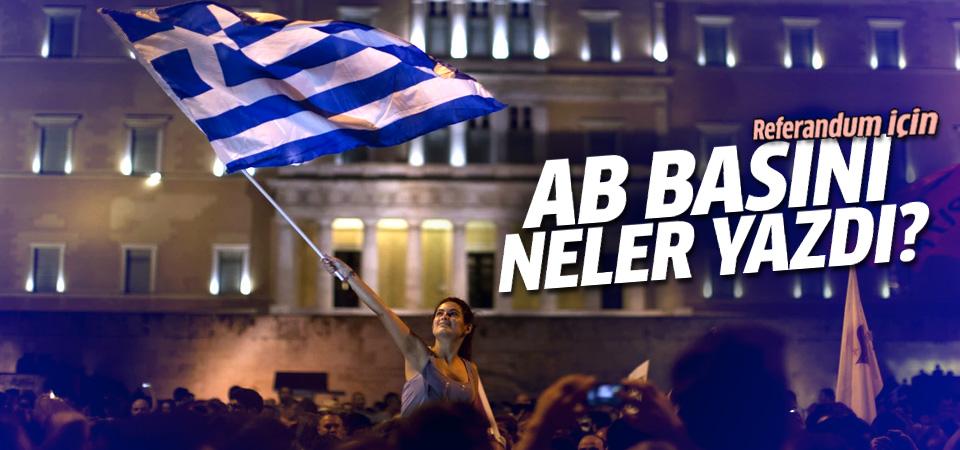 Yunanistan referandumunun Avrupa basınında yankıları