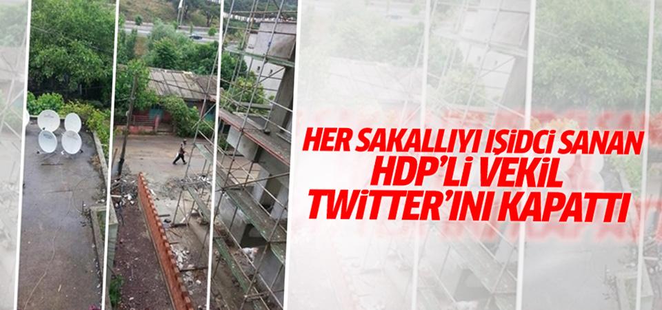 Şemsiyeyi silah sanan HDP'li vekil Twitter hesabını kapattı