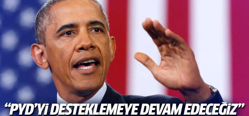 Obama'dan PYD'ye destek vermeye devam edeceğiz mesajı