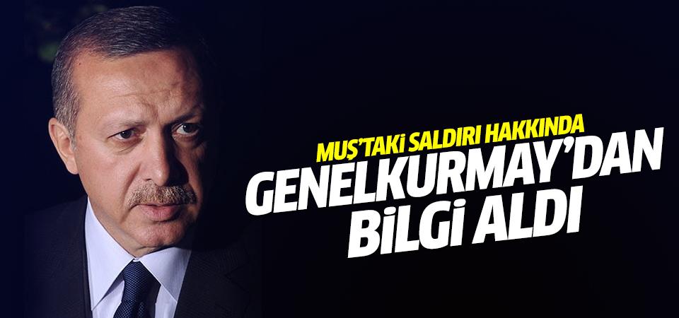 Erdoğan Genelkurmay Başkanlığından bilgi aldı