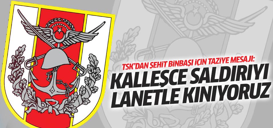 TSK'dan Arslan binbaşı için taziye mesajı