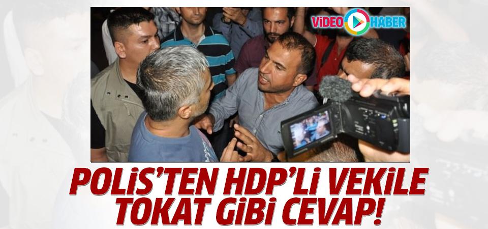Batman'da HDP vekil ile polis arasında gerginlik