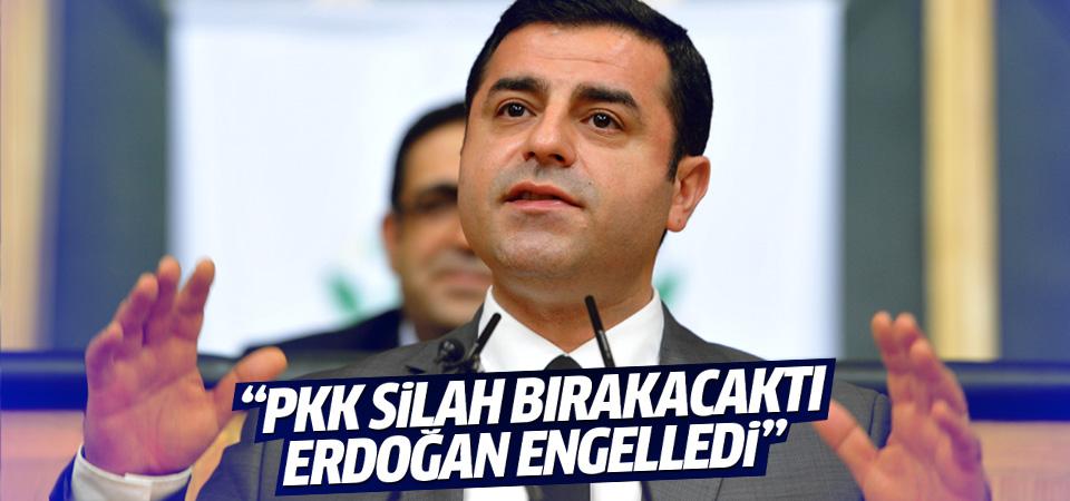 Demirtaş: PKK silah bırakacaktı Erdoğan önledi